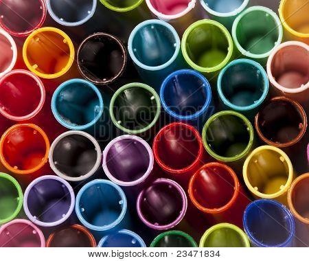 Colorful Pen Caps
