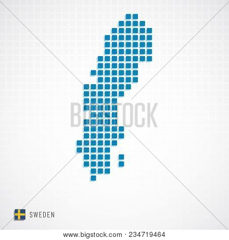 Sweden Map And Flag Icon