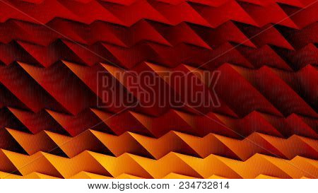 Abstract Tech Minimal Geometric Squares And Lines Motion Graphic Background. Motion 3d Waves Abstrac