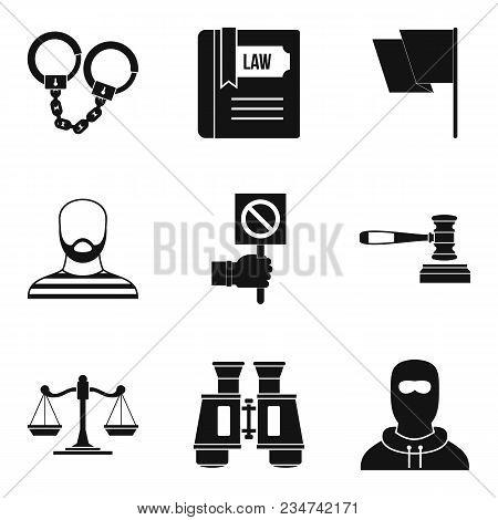 Molestation Icons Set. Simple Set Of 9 Molestation Vector Icons For Web Isolated On White Background