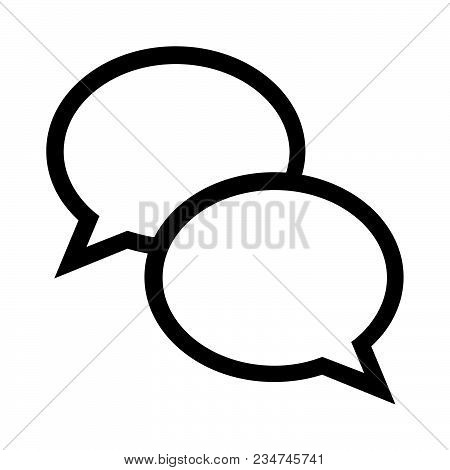 Speech Bubbles Icon Isolated On White Background. Speech Bubbles Icon Modern Symbol For Graphic And
