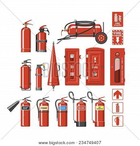 Fire Extinguisher Vector Fire-extinguisher To For Safety And Protection To Extinguish Fire Illustrat