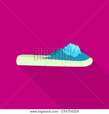 Domestic Slipper Icon. Flat Illustration Of Domestic Slipper Vector Icon For Web