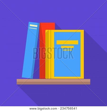 Bookshelf Icon. Flat Illustration Of Bookshelf Vector Icon For Web