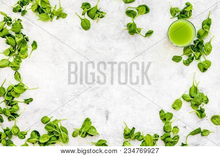 Celeriac. Vegetables For Greeny Organic Smoothy For Sport Diet On Stone Table Background Top View Mo