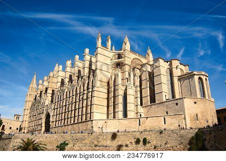 Cathedral Of Palma In Majorca, Balearic Islands, Spain