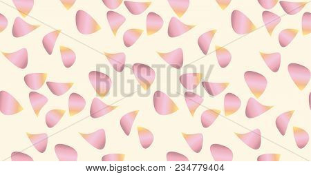 Rose Flower Petal Seamless Pattern. Stock Vector Illustration. Love And Passion Floral Motif For Pat