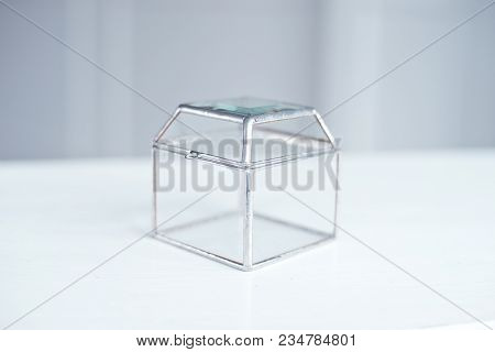 Decorative Glass Display Box Square. Square Transparent Glass Gift Box. Clear Square Gift Box, Glass