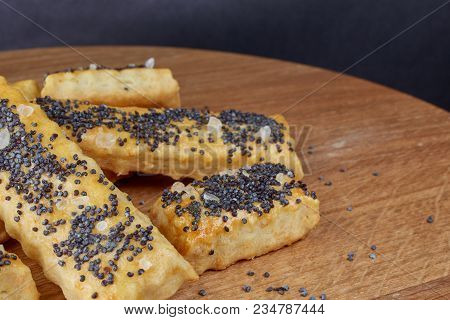 Baked Sticks With Poppy Seeds, Salt