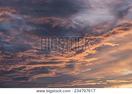 Dark Blue, Grey And White Cloudy Sky
