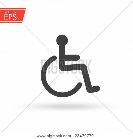 Disabled Handicap Icon. International Wheelchair And Accessibility Symbol. Invalid Sign. Toilet Disa