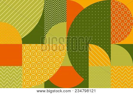 Abstract Multicolored Geometric Pattern In Pastel Color. Stock Vector Illustration. Spring Green, Ye