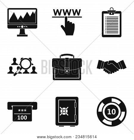 Online Market Icons Set. Simple Set Of 9 Online Market Vector Icons For Web Isolated On White Backgr