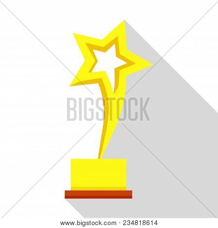 Star Trophy Icon. Flat Illustration Of Star Trophy Vector Icon For Web