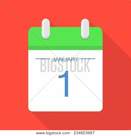 Beginning Of Calendar Icon. Flat Illustration Of Beginning Of Calendar Vector Icon For Web