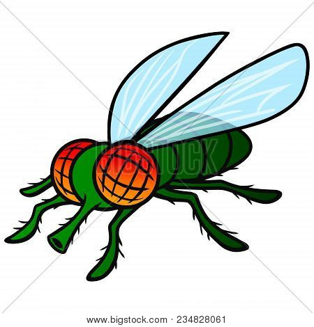 Fly Mascot - A Vector Cartoon Illustration Of A Fly Mascot.
