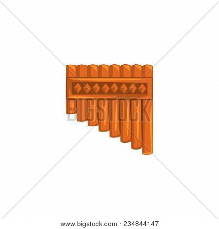 Bamboo Pan Flute, Ethnic Music Wind Instrument Vector Illustration Isolated On A White Background.