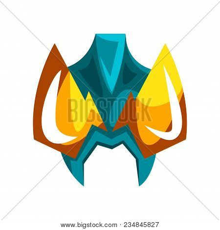 Mask For Hero Or Villain Vector Illustration Isolated On A White Background.