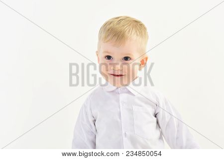 Childhood And Happiness, Little Boy. Kid Fashion, Style And Look, Boss Baby. Child With Happy Face I