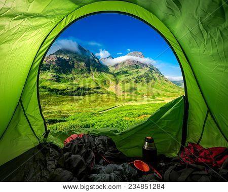 Camping In Highland Near Glen Coe, Scotland