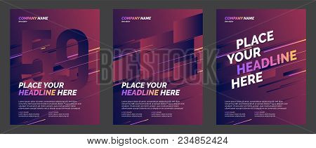 Set Of Brochure Layout Template, Cover Design Background, Annual Reports. Can Be Adapt To Annual Rep
