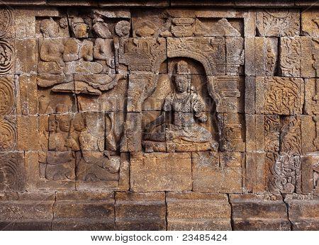 Borobudur temple relief