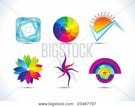Abstract Rainbow Colorful Design Elemnts