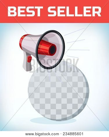 Megaphone Or Bullhorn For Amplifying The Voice For Protests Rallies Or Public Speaking.