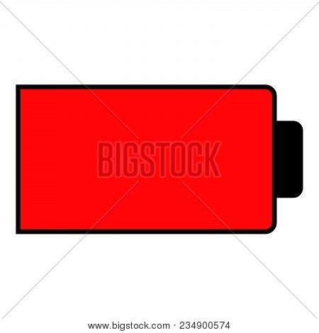 Battery Condition Charge Down To Empty Vector Illustration Icon Black Color Vector Illustration Isol