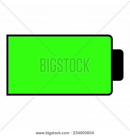 Battery Condition Charge Full Vector Illustration Icon Black Color Vector Illustration Isolated