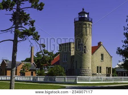 Mackinac Point Lighthouse In Mackinaw City Michigan