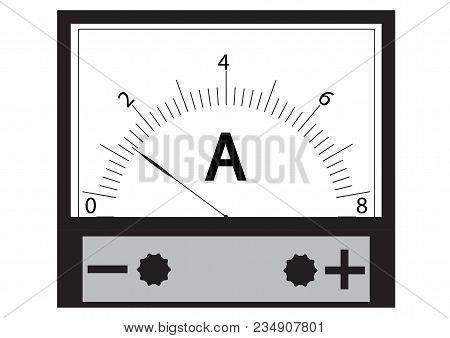 Ammeter - A Physical Device For Measuring The Current In The Electrical Circuit.