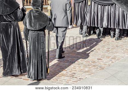 Zamora, Spain - March 25, 2016: Traditional Spanish Holy Week (semana Santa) Procession On Holy Frid
