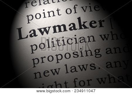 Fake Dictionary, Dictionary Definition Of The Word Lawmaker. Including Key Descriptive Words.