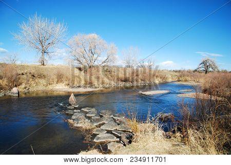 River And Landscape Near Colorado Springs, Colorado