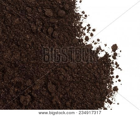 Soil or dirt crop isolated on white