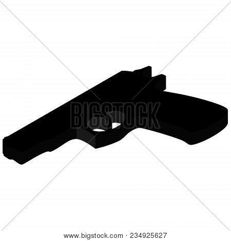 Pistol Gun Isometric
