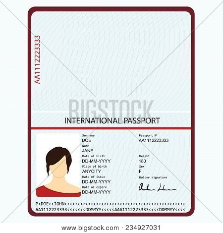 Passport Vector & Photo (Free Trial) | Bigstock