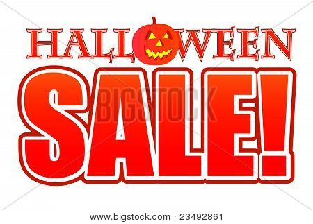 Halloween pumpkin sale sign illustration