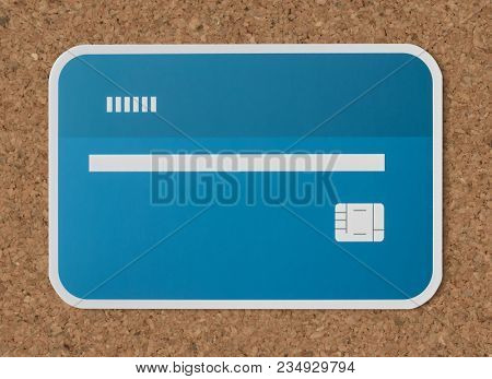 Credit debit bank card icon