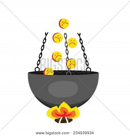 Love Spring. Heart Love With Notes. Vector Hell. Vector Illustration Of Depicting The Pot From Falli