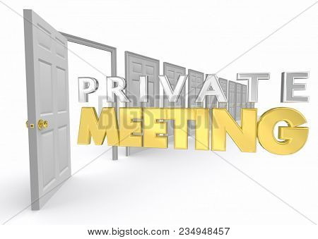 Private Meeting Personal Confidential Office Door Open 3d Illustration