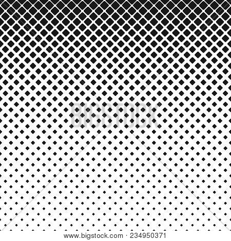 Abstract Geometrical Monochrome Rounded Square Pattern Background - Vector Illustration With Diagona