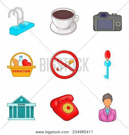 Assimilation Icons Set. Cartoon Set Of 9 Assimilation Vector Icons For Web Isolated On White Backgro