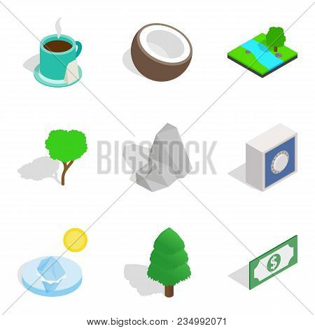 Life Force Icons Set. Isometric Set Of 9 Life Force Vector Icons For Web Isolated On White Backgroun