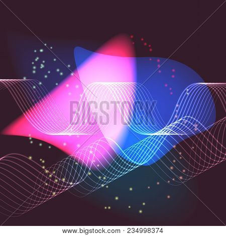 Sine Waves Background Suitable As A Backdrop For Projects On Technology, Entertainment, Communicatio