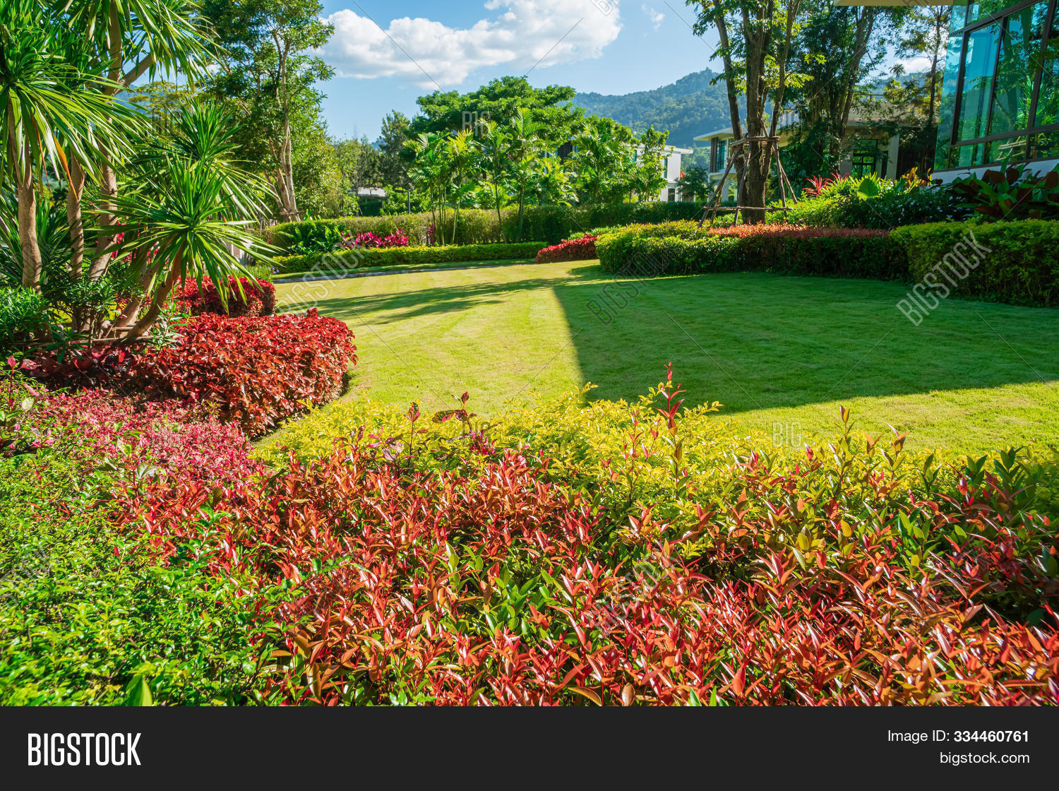 Green Lawns Front Image Photo Free Trial Bigstock