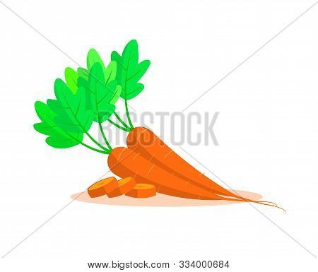 Carrots Isolated On White Background. Carrots With Leaves