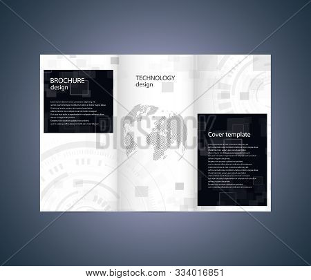 Abstract Brochure Design. Technology And Business Template. Vector Illustration