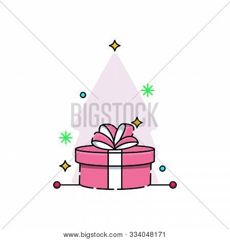 Gift Box. Gift Box Vector. Gift Box Icon. Gift Box Background. Gift Box Vector illustrations. Gift Box logo. Gift Box illustrations. Present Vector. Present Icon. Gift Box for Birthday, party, present, Christmas. Gift Box vector illustration isolated.
